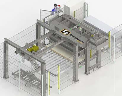 Throug-feed press automation