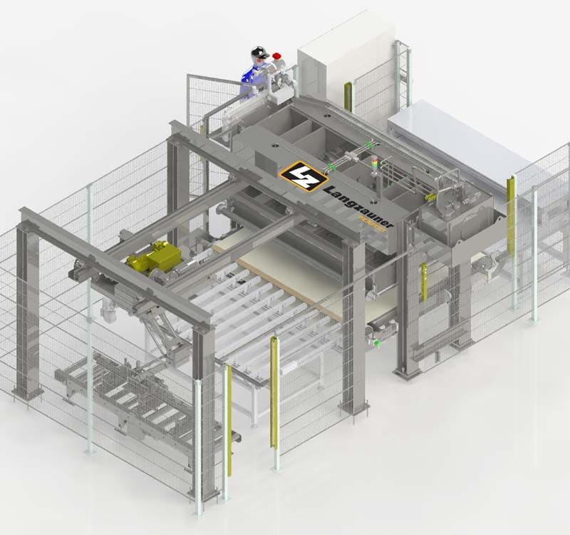 through-feed press with automation and stacking