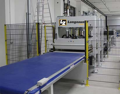 through-feed press production line