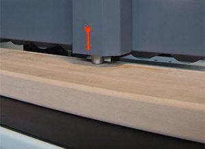 Materialstärkeeinstellsystem Schleifmaschine
