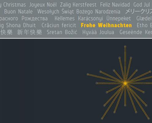 Weihnachtskarte Langzauner