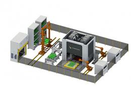 Automatisierungslinie Regalbediengerät