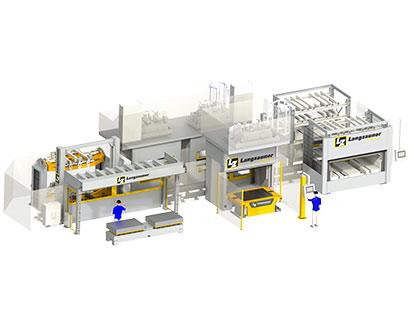 Automatisierungsline Werkzeugshuttlesystem