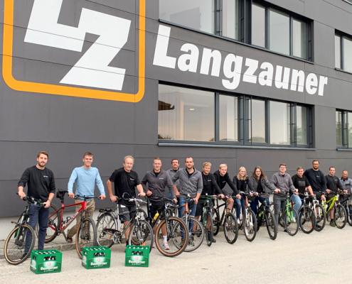 Biker Gruppenfoto